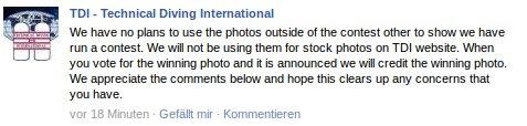 TDI Aussage zum Fotowettbewerb