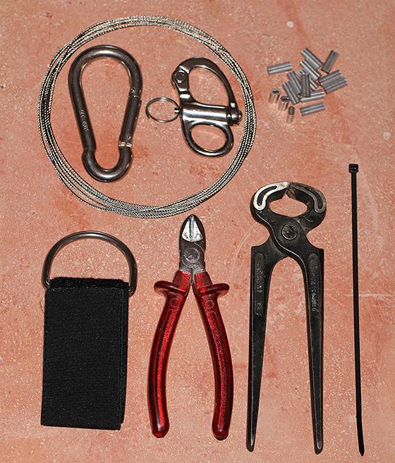 Werkzeug und Material für Lanyard