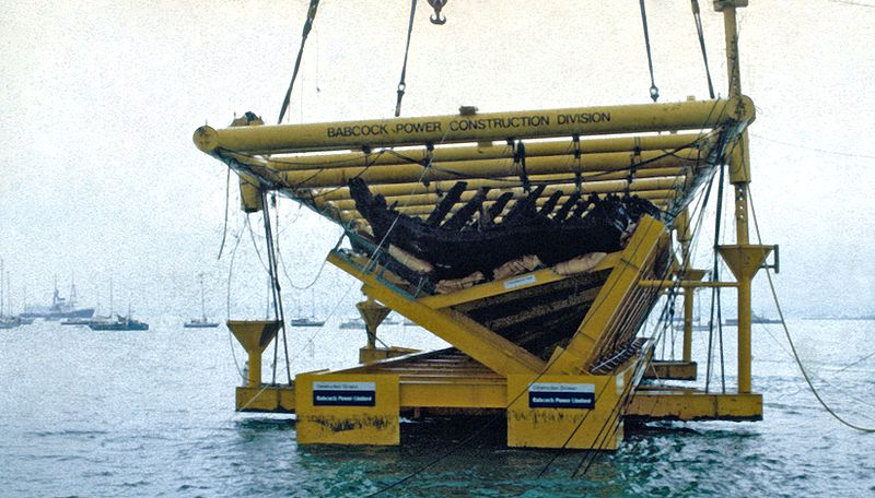 The Mary Rose back on the surface