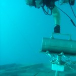 Deployment of translation devices by NEEMO diver.