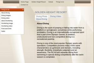 Golden Heights Resort diving