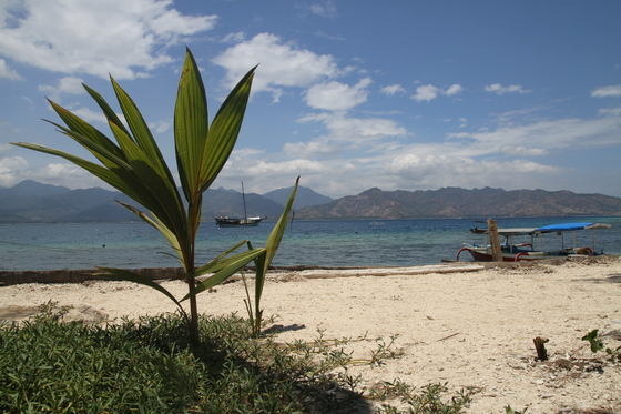 Gili Air: Lombok in the background