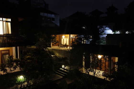 Accomodation: Matahari in Ubud - Night view