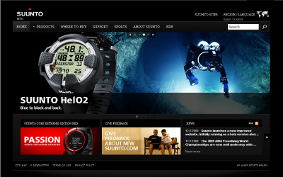 Suunto new website